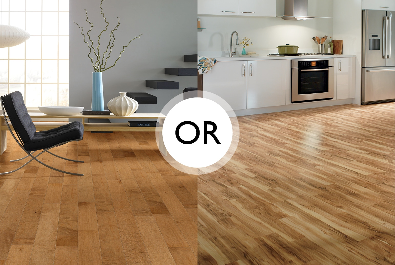 Hardwood vs laminate flooring the basics innovation - Laminate versus hardwood flooring ...